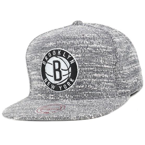 new concept f98db 66fb2 Brooklyn Nets Grey Noise Snapback - Mitchell   Ness caps   Hatstore.co.uk