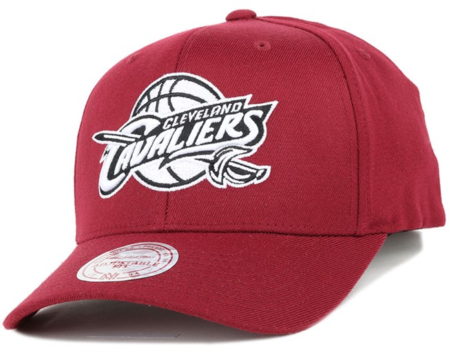 026a150da4012 Cleveland Cavaliers Black   White Logo 110 Adjustable - Mitchell   Ness
