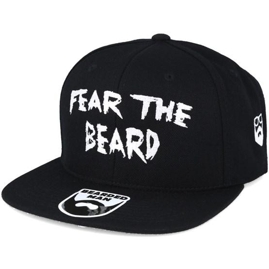 1f379781997 Fear The Beard Black Snapback - Bearded Man caps - Hatstoreworld.com
