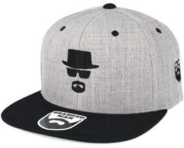 Heisenbeard Grey/Black Snapback - Bearded Man