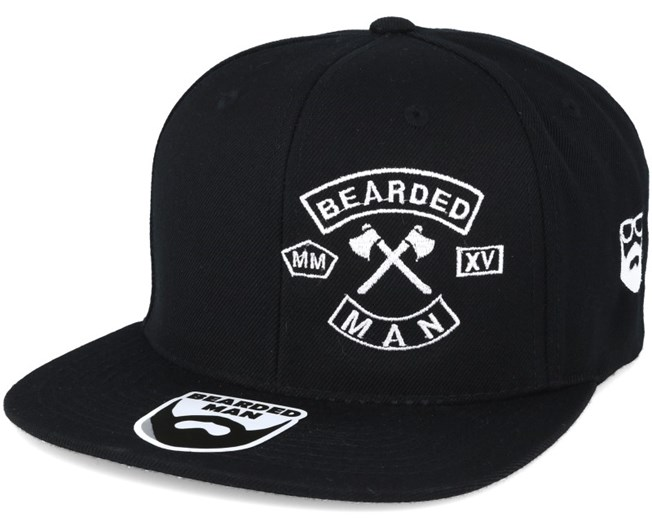 MC Patch Black Snapback - Bearded Man