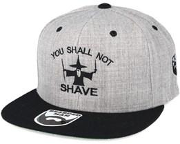 Shall Not Shave Grey/Black Snapback - Bearded Man