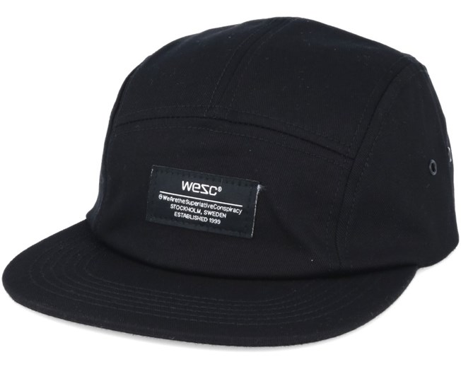 Solid Black 5-Panel - WeSC caps  8befcfd5f335