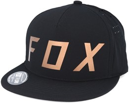 Moth Black Snapback - Fox