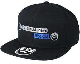 Convo Black Snapback - Bearded Man