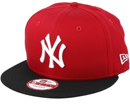 cc6cb29ef7ddf NY Yankees MLB Cotton Block Scarlet Black 9fifty - New Era