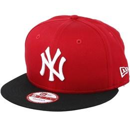 New Era NY Yankees MLB Cotton Block Scarlet Black 9fifty - New Era AU   44.99 AU  49.99 c26b50737407