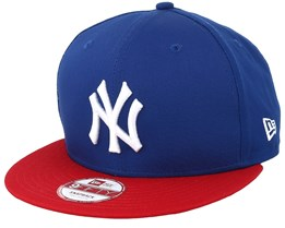 NY Yankees MLB Cotton Block Royal/Scarlet 9fifty - New Era