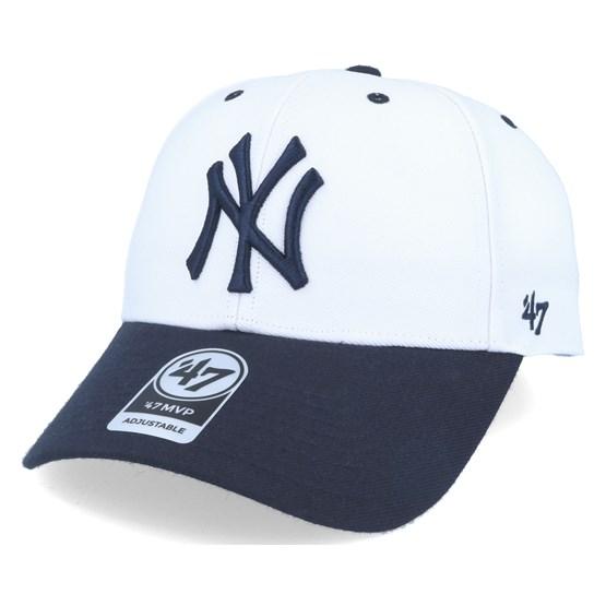online retailer 4b71d 94cac New York Yankees Audible 2 Tone Mvp White black Adjustable - 47 Brand caps  - Hatstoreworld.com