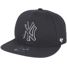 eb9f04a409a3 New York Yankees Iridescent 47 Captain Black Snapback - 47 Brand ...
