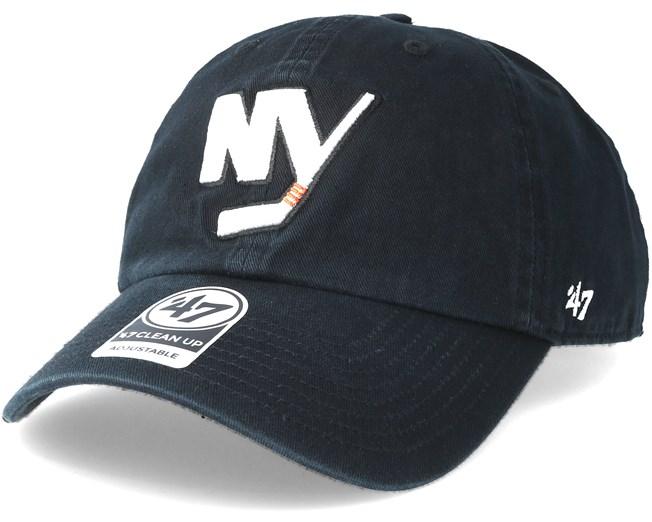 c7284e1b74b New York Islanders Clean up Black Adjustable - 47 Brand caps -  Hatstoreworld.com
