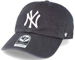 New York Yankees `47 Clean Up Charcoal Grey Adjustable - 47 Brand df0ce75e2