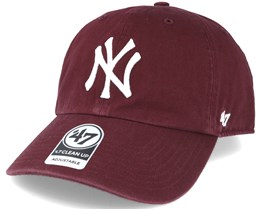 low priced 86f44 9c3e8 New York Yankees `47 Clean Up Maroon Red Adjustable - 47 Brand