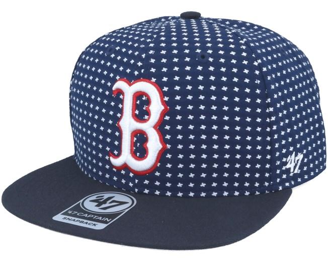 1996acff92d Boston Red Sox Crossbreed Captain Pattern Navy Snapback - 47 Brand caps -  Hatstoreworld.com