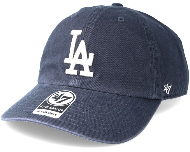 Los Angeles Dodgers Clean Up Vintage Navy Adjustable - 47 Brand caps -  Hatstoreworld.com cbcaef8188a