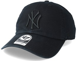 efbe43b3df6dd New York Yankees Clean Up Black Adjustable - 47 Brand
