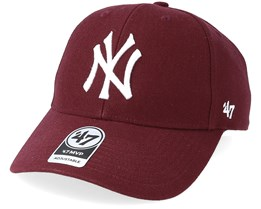 New York Yankees Mvp Dark Maroon Adjustable - 47 Brand