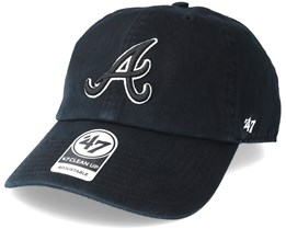 Atlanta Braves Clean Up 2 Black Adjustable - 47 Brand