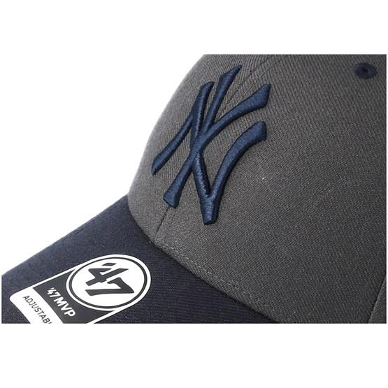 b6a5461299140 New York Yankees Audible Two Tone Charcoal Navy Adjustable - 47 Brand caps  - Hatstorecanada.com
