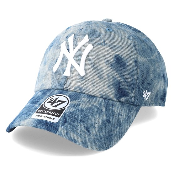 f22e00948cf3a New York Yankees Hard Wash 47 Clean Up Blue Adjustable - 47 Brand caps -  Hatstoreworld.com