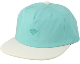 Micro Brilliant 2 Tone Blue/White Strapback - Diamond
