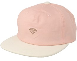 Micro Brilliant 2 Tone Pink/White Snapback - Diamond