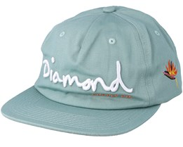 Og Script Sp19 Green Snapback - Diamond