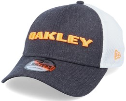 Heather Fathom/White/Orange Trucker - Oakley