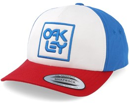 Logo Hat White/Blue/Red Adjustable - Oakley