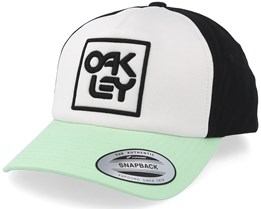 Logo Hat White/Black/Bay Green Adjustable - Oakley