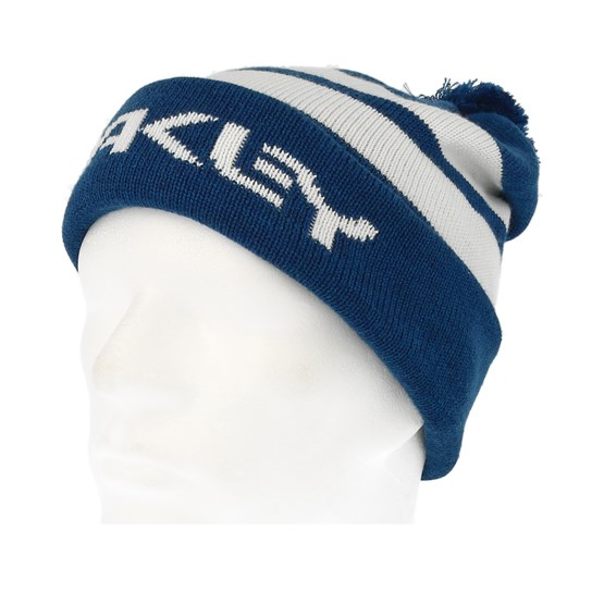 1323d0424e5 B1B Logo Striped Blue White Pom - Oakley beanies - Hatstorecanada.com