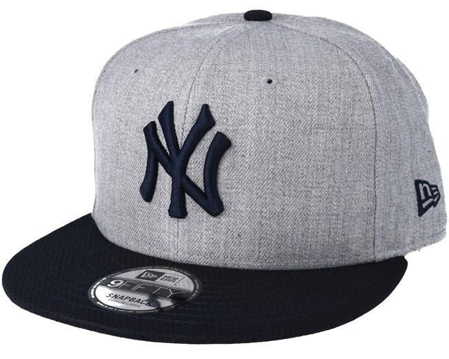 the best attitude b557b 722ac New York Yankees Mesh Heather Grey Trucker Snapback - New Era caps ...