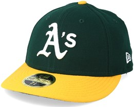 Oakland Athletics Low Crown Ac Perfermance Green/Yellow Fitted - New Era