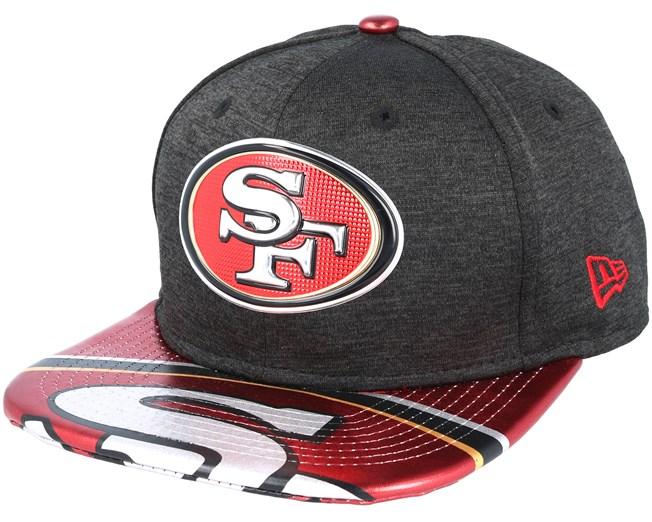 47a0de72a12 San Francisco 49ers Draft 2017 9Fifty Heather Black Snapback - New Era cap  - Hatstore.co.in