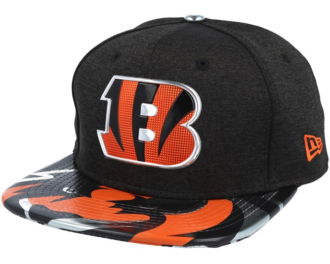 5e4e0da31f0e4 Cincinnati Bengals Draft 2017 9Fifty Heather Black Snapback - New Era caps  - Hatstoreworld.com