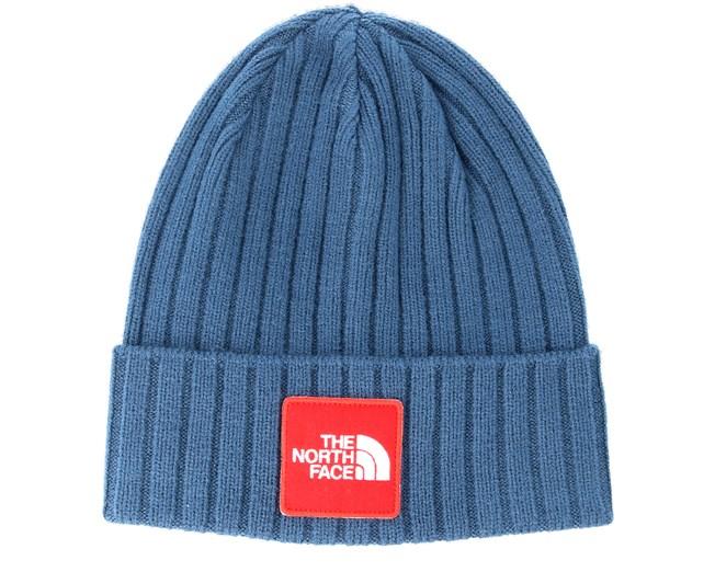 506864697 Logo Box Shady Blue Cuff - The North Face beanies - Hatstoreworld.com