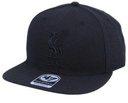Liverpool Exclusive Metallic Black/Black Snapback - 47 Brand