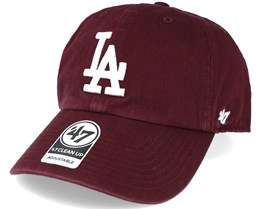 Los Angeles Dodgers 2 Tone Clean Up Maroon Red Adjustable - 47 Brand