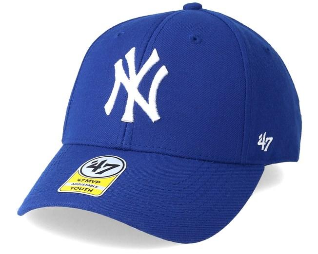 sale retailer b389d 4e29e Kids New York Yankees Youth Mvp Blue Adjustable - 47 Brand caps -  Hatstoreworld.com