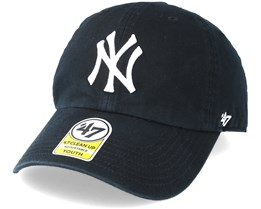 3efe2fcf01272 Kids New York Yankees Youth Clean Up Black Adjustable - 47 Brand