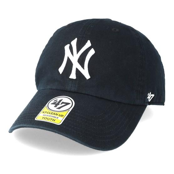 791ce462718 Kids New York Yankees Youth Clean Up Black Adjustable - 47 Brand caps -  Hatstoreaustralia.com