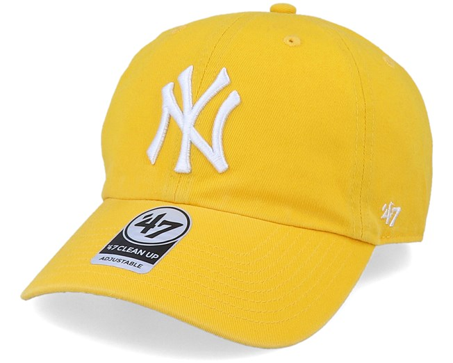 cfbdb846b90 New York Yankees Clean Up Yellow Adjustable - 47 Brand caps -  Hatstorecanada.com