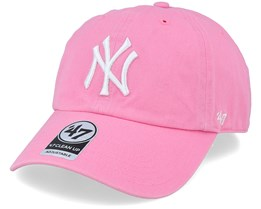 New York Yankees Clean Up Rose/White Adjustable - 47 Brand