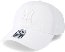 New York Yankees Clean Up White/White Adjustable - 47 Brand