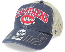 Montreal Canadiens Tuscaloosa Clean Up Dad Cap Vintage Navy/Beige Trucker - 47 Brand