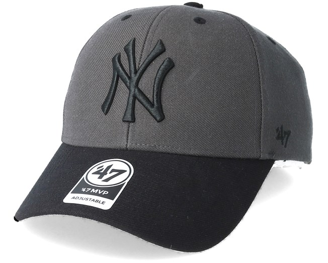 no sale tax super quality on feet shots of New York Yankees Audible Two Tone Charcoal/Black Adjustable - 47 ...