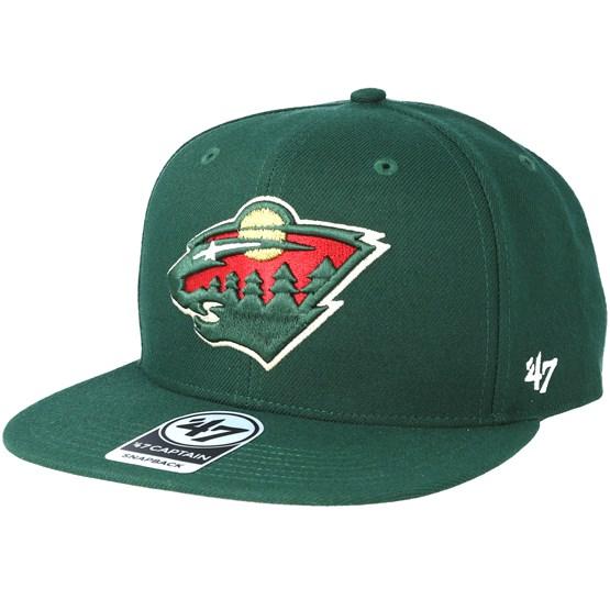 30eb213c1 Minnesota Wild Sure Shot Dark Green Snapback - 47 Brand caps -  Hatstoreworld.com
