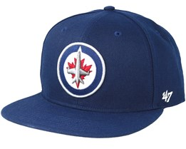 Winnipeg Jets Sure Shot Light Navy Snapback - 47 Brand