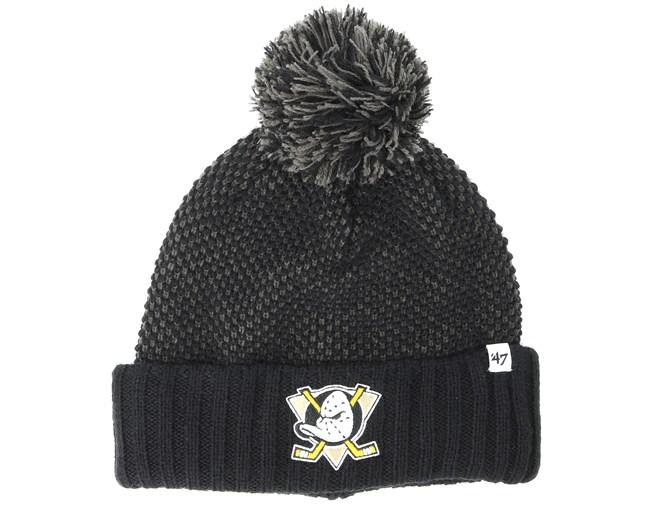 Anaheim Ducks Droper Black Beanie - 47 Brand - Gorros con pompón Gorra -  Hatstore 0df7e810f1c