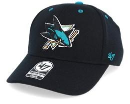 San Jose Sharks Kickoff 47 Contender Wool Black Flexfit - 47 Brand